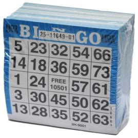 Bingokaarten pak 500 stuks Blauw