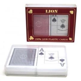 @Poker Speelkaarten set Groot Index 100% plastic Lion