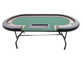 @Pokertafel Groen 213cm opklapbaar