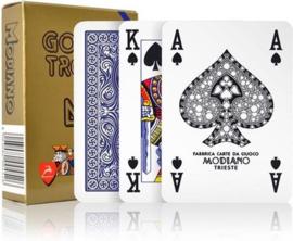 Modiano Poker Golden Trophy 4 Standaard Index Blauw 100& Plastic