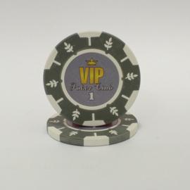 VIP Pokerchip 13.5 gram Grijs Waarde 1 Per 25