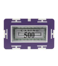 Plak / Plaque 30 gram Paars Waarde 500 Per 5