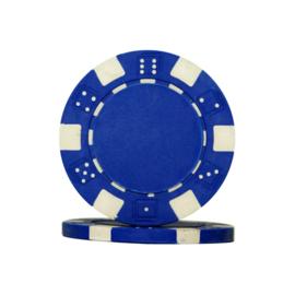 Dice Chips 11.5 Gram Blauw Per 25