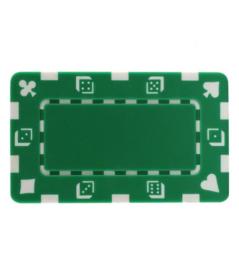 Plak / Plaque 30 gram Dice & Cards Symbool Groen Per 5