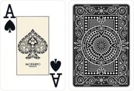Modiano Speelkaarten Texas Poker Zwart 100% Plastic Jumbo Index