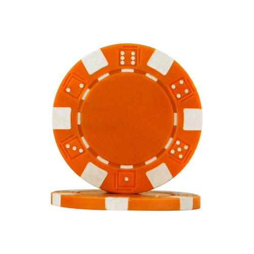 Dice Chips 11.5 Gram Oranje Per 25