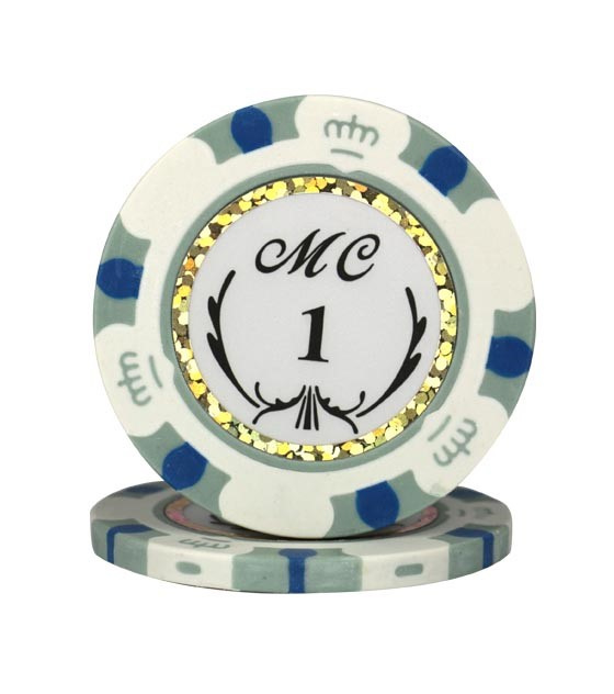 Monte Carlo Pokerchip 13.5 gram Grijs Waarde 1 Per 25