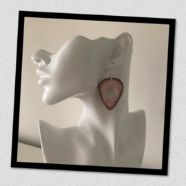 Sieratas oorbellen oud roze