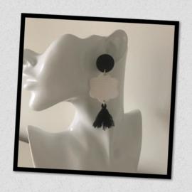 Sieratas oorbellen zwart wit