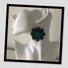 Sieratas oorbellen zwart groen