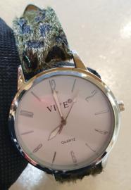 Vive Horloge met groene panterprint #5