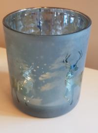 Luxe Theelicht Houder Deer Blue