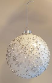 Kerstbal White Beads #032