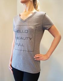 Tshirt Hello! Heather Gray
