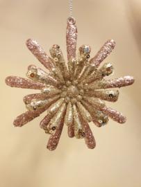 Kerst Ornament Roségold Star #003