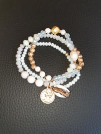 Armband Beads Wit