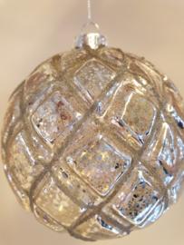 Kerstbal Old Silver  #001