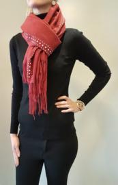 Sjaal met strass Rood