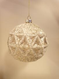 Kerstbal White #012