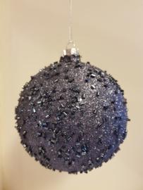 Kerstbal Dark Blue #005