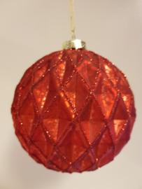 Kerstbal Red #006