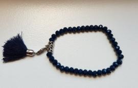 Armband met Kwastje Donkerblauw