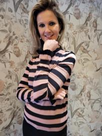 Trui Pink&Black Stripes C&S Designs Paris