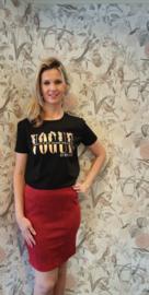 Tshirt Vogue Flower Zwart