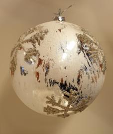 Kerstbal Silver SnowFlake Big #002