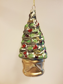 Kerst Ornament Christmas Tree Gold #031
