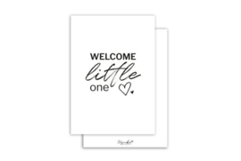 Kaart | Welcome little one | 5 stuks