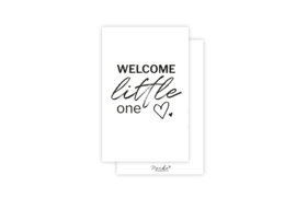 Mini-kaart | Welcome little one | 5 stuks