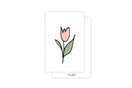 Mini-kaart | Tulpje | 5 stuks