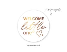 Sticker   Welcome little one goud