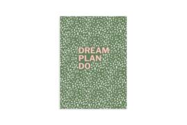 Schrift A6   Dream plan do   5 stuks