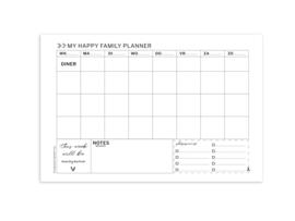 A4 Familie planner | 3 stuks