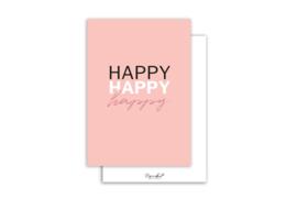 Kaart | Happy happy happy | 5 stuks