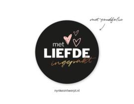 Sticker   Met liefde ingepakt