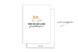 Kaart | Vro-ho-ho-lijke feestdagen | 5 stuks