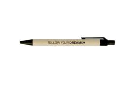 Pen | Follow your dreams | 5 stuks