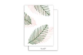 Kaart | Blaadjes print | 5 stuks