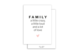 Kaart | Family | 5 stuks