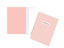 A5 Schrift | Dots roze | 5 stuks