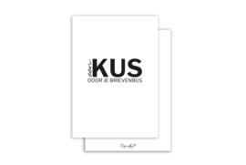 Kaart | Een kus door je brievenbus | 5 stuks