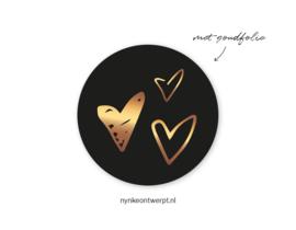 Sticker | 3 Gouden hartjes