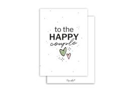 Kaart | To the happy couple | 5 stuks