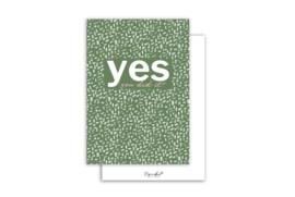 Kaart | Yes you did it | 5 stuks