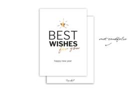 Kaart | Best wishes | 5 stuks