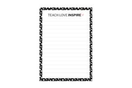 A6 Notitieblok | Teach love inspire | 5 stuks