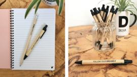 Pen   Follow your dreams   5 stuks